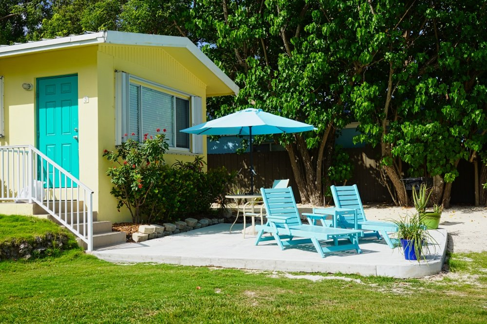 Dolphin Cottage Room 2 Patio